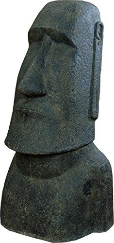 korb.outlet Moai Kopf Steinguss/Osterinseln Statue Figur für Haus und Garten/Gartenskulpturen Stein...