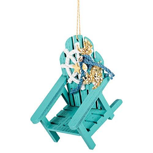 Dekoelement für Strandkorb, 10,2 x 11,4 cm, Kunstharz, Türkis