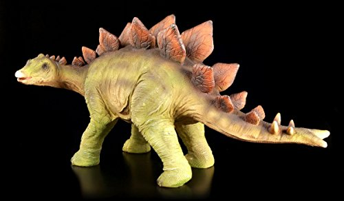 Figuren Shop GmbH Dinosaurier Gartenfigur - Stegosaurus - Dino Garten Deko Saurier