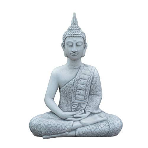 gartendekoparadies.de Massiver Großer Thai Buddha Tempelwächter aus Steinguss frostfest