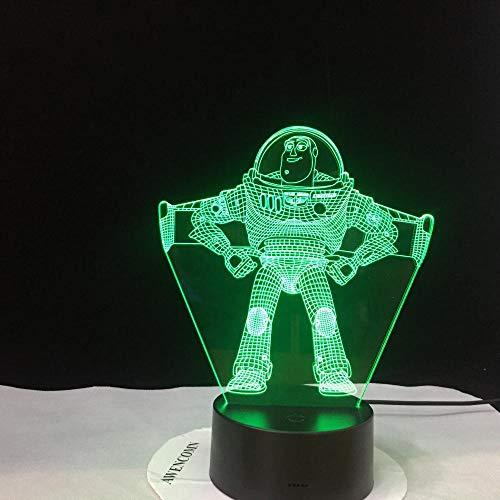 Auvvsovs® 3D LED-Nachtlicht Illusion Lampe mit drei Mustern und 16 wechselnden Farben – perfektes...