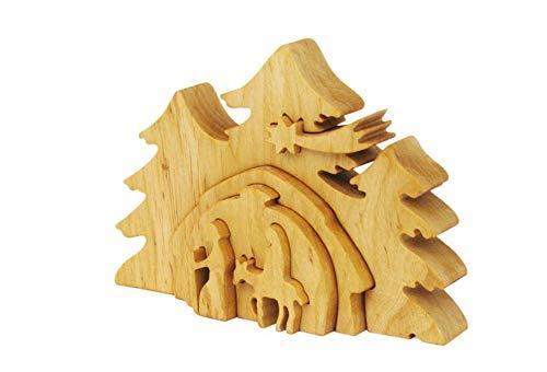 Wmanufacture Weihnachtskrippe aus holz, krippe weihnachten, weinachts dekoration - Viflaim