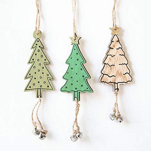 AFDD Weihnachtsdekorationen Holz Christbaum Glocke Anhänger Weihnachtsbaum Dekoration Zubehör