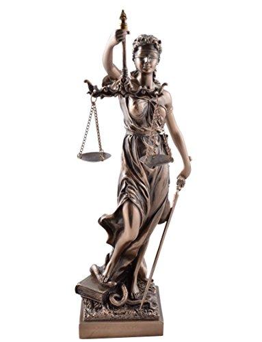 Veronese 708-1832 Justitia Figur bronziert,Skulptur,römische Götter 33 cm