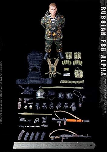 Delili 1/12 Skala Russische Alpha Special Forces Actionfigur Grenadier Figur Soldat Puppenspielzeug...