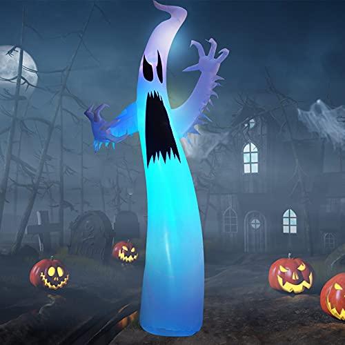 12Ft Halloween Inflatables Ghosts Dekoration mit LED-Lichtern, EBANKU Halloween Geist Inflatables...