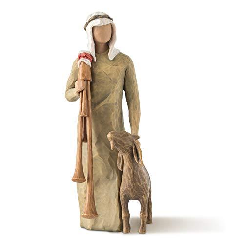 Willow Tree Zampognaro - Hirte mit Sackpfeife und Ziege als Ergänzung zur Willow Tree Nativity...