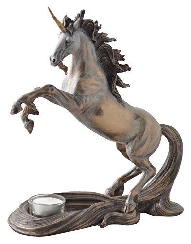 Einhorn Figur Skulptur Statue Fantasy Unicorn Teelichthalter Einhörner
