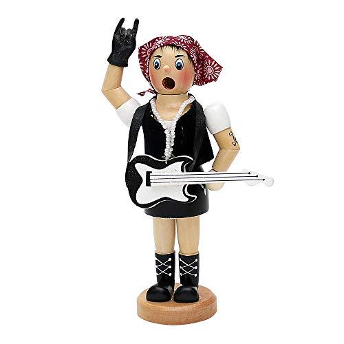 Dekohelden24 Räucherfrau als Rock Lady, ca. 19 cm