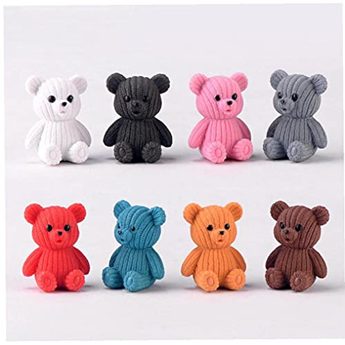 Froiny Dekoration Zubehör Beliebte Party Niedlichen Kunststoff Teddybär Miniatur Fee Ostern Tier...