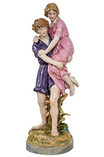 aubaho Porzellan Skulptur Kunst Figur Mann Frau Antik-Stil 42cm Liebe Liebespaar