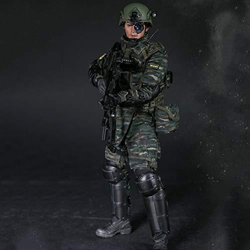 MXUS 1/6 Militärsoldat Actionfiguren Snow Leopard Commando Unit Spielzeugstatuenmodell Handgemachte...