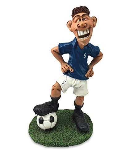 Les Alpes 014 99641 Fussballspieler blau 17 cm Kunstharz Funny Dekofigur Sport