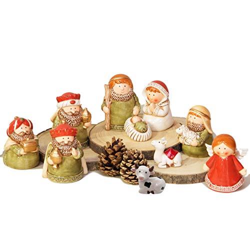 Quality Keramik-Tischdekoration, Weihnachtskrippe, 10 Stück