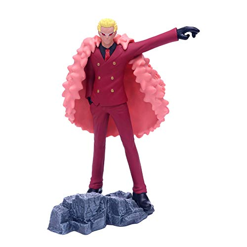 QTRT ONE Piece Rote Kleidung Stehen Donquixote Doflamingo PVC Anime Cartoon Game Character Modell...