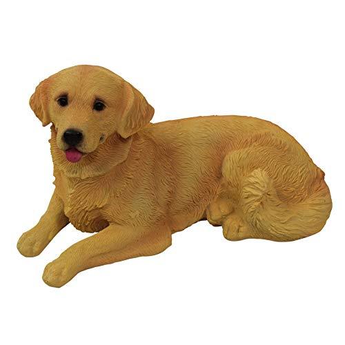 Polyresin Figuren Gartenfigur Hund Golden Retriever, handbemalt, Gartendekoration Tiere, Kunstharz...