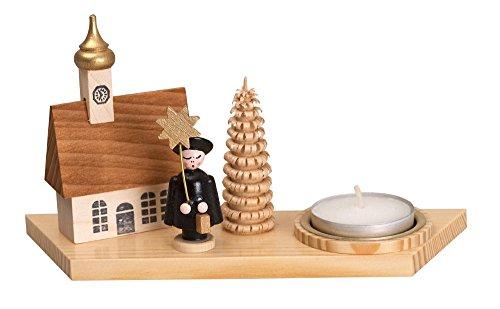 Kerzenhalter Teelichthalter Kurrendefigur mit Buch natur Breite ca 15cm NEU Kurrende Kerze...