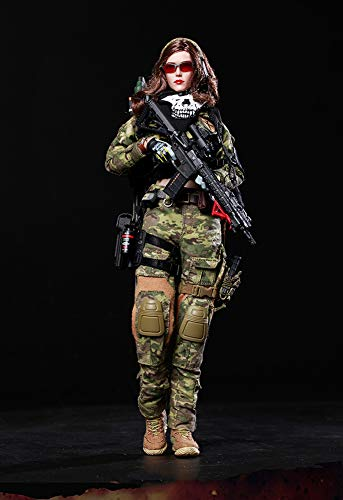 Delili 1/6 Kriegsengel Action Figur Jägerin Angela Soldat Puppenspielzeug Für Sammler, Fotografie...