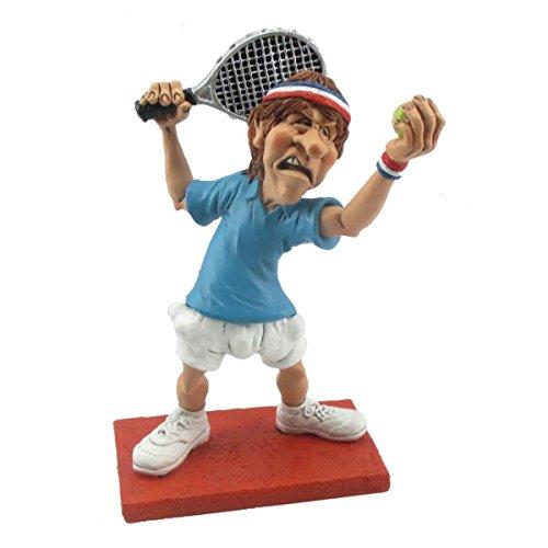 Funny Sports - Tennisspieler beim Aufschlag