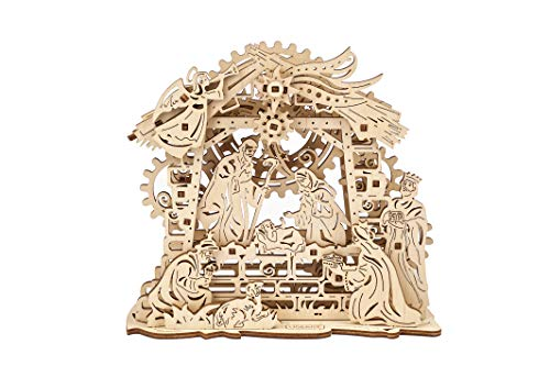 UGEARS Weihnachtskrippe - Mechanisches Puzzle 3D - Selbstmontage Woodcraft Construction Kits -...