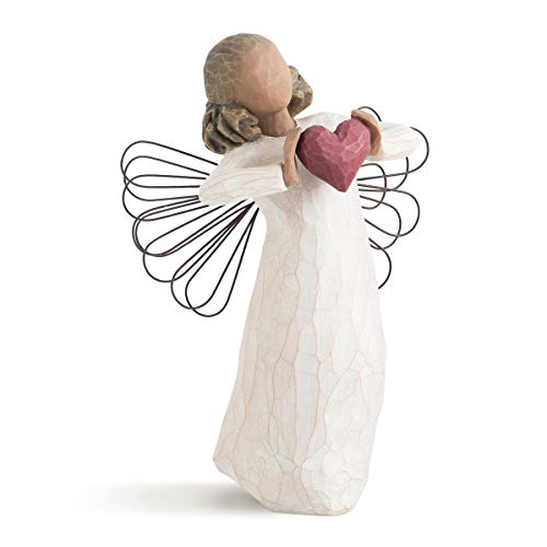 Willow Tree 26182 Figur Engel der Liebe, Natur, 3,8 x 3,8 x 14 cm