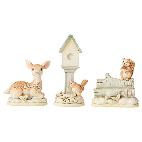 Heartwood Creek by Jim Shore White Woodland Set of 3 Figurine