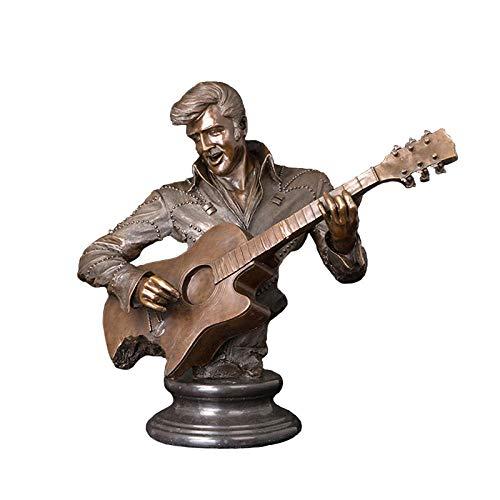 ZAQWSXCDE Statuen Und Skulpturen Skulptur Figur Statuen Dekoration Home Decoration Bronze Mann...