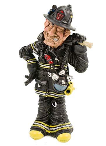 Funny Job - Feuerwehrmann mit Axt auf der Schulter