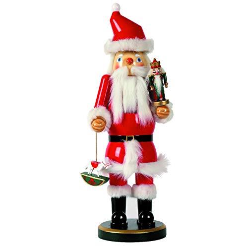 OBC-Kunsthandwerk Nussknacker Deko Figur Weihnachtsmann groß rot / 38 cm/Nussknacker...