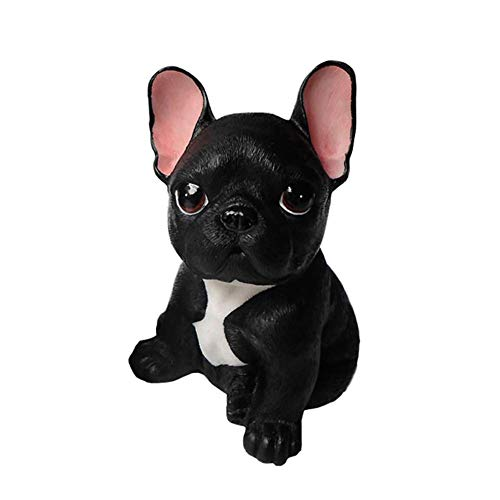 LEILEI Nette Bulldoggenfiguren,Gartenskulpturen im Freien Dekor Patio Simulation Hundestatuen...