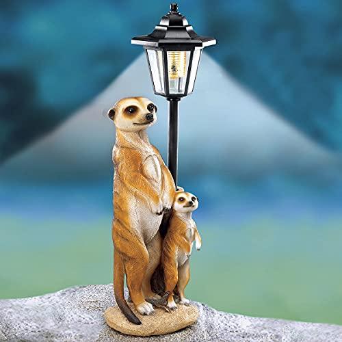 TRI Solarlaterne Erdmännchen, leuchtende Deko-Figur, Gartenfigur, Balkonleuchte, Gartenleuchte,...