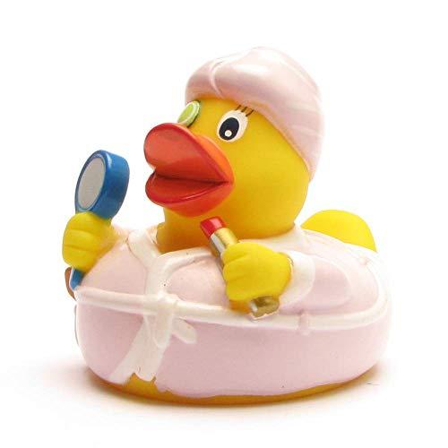 Duckshop I Badeente I Quietscheente I Beauty Ente - L: 7,5 cm - inkl. Badeenten-Schlüsselanhänger...
