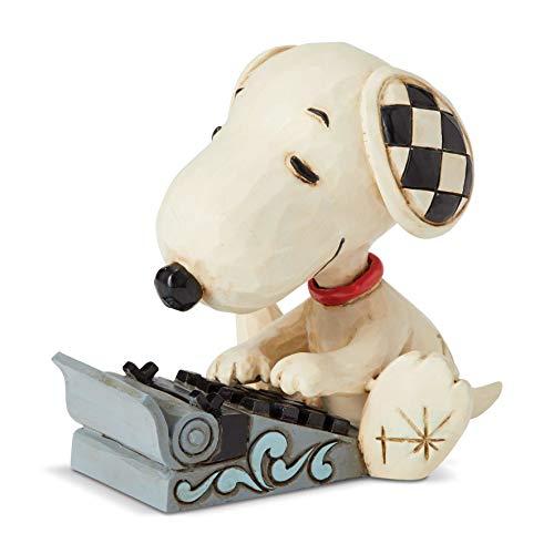 ENESCO Jim Shore Peanuts Snoopy Typing Mini Figurine 6001298