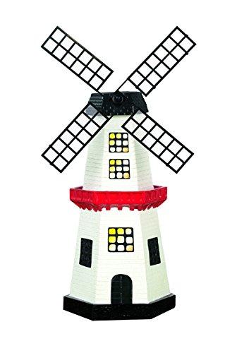 EASYmaxx 09387 Solar-Windmühle | kabellos, bis zu 8 Std. Leuchtdauer, Tageslichtsensor | für Innen...