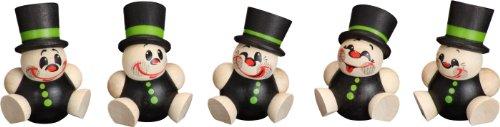 Kugelfiguren Deko Figuren Schorchy 5er Satz Weihnachten Seiffen 4,5cm Erzgebirge NEU