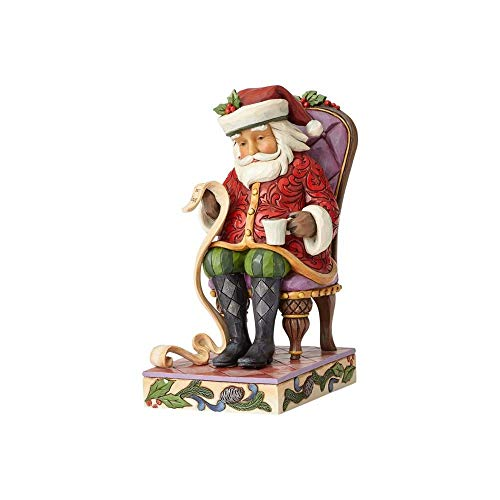 Heartwood Creek Santa Reading List In Chair Figurine