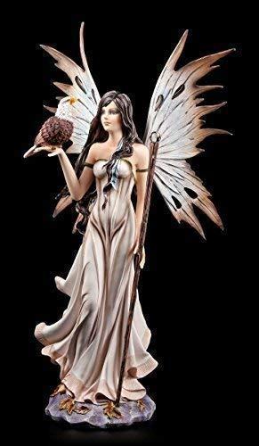 Elfen Figur 55 cm mit Adler und Zauberstab - Groß Fee Magie Elfenfigur