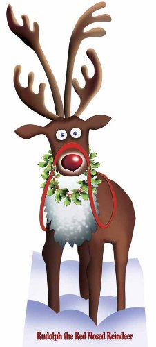Unbekannt Rudolph The Red Nosed Rentier - Weihnachten LEBENSGROSSE PAPPFIGUREN / STEHPLATZINHABER /...