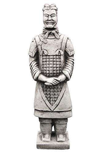 gartendekoparadies.de Massive Steinfiguren chinesischer Terrakotta Krieger aus Steinguss frostfest...