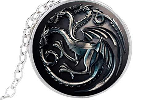 Féeries et Merveilles Halskette Drache, phosphoreszierend, Figur Drachen, Game of Thrones