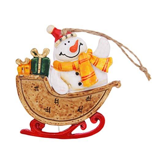 BESPORTBLE Weihnachtsschlitten Puppe Anhänger Weihnachtsbaum hängende Figur Home Party hängende...
