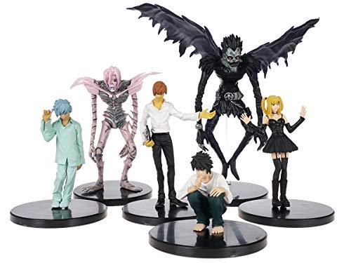 CoolChange Death Note Figuren Set mit L Lawliet, Light Yagami, Ryuk, Rem, Misa Amane, Near