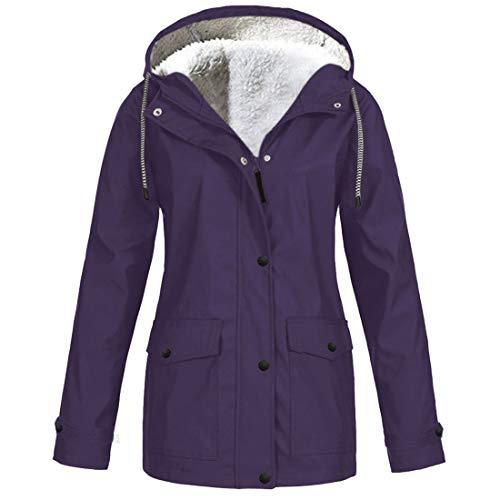 Damen Hoodie Outwear Winter Fleece Warm Windproof bequem Full-Zip Sweatshirt Casual Daily Wear Mit...