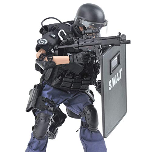Batop 1/6 Soldat Modell, 12 Zoll SWAT Spezielle Polizei Soldat Actionfigur Modell Spielzeug Figuren...