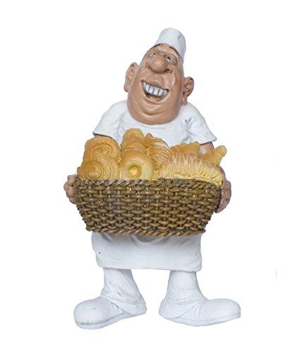 Les Alpes Berufsfigur Comicfigur Figur Bäcker mit Brotkorb Konditor witzig der Reihe Funny Jobs
