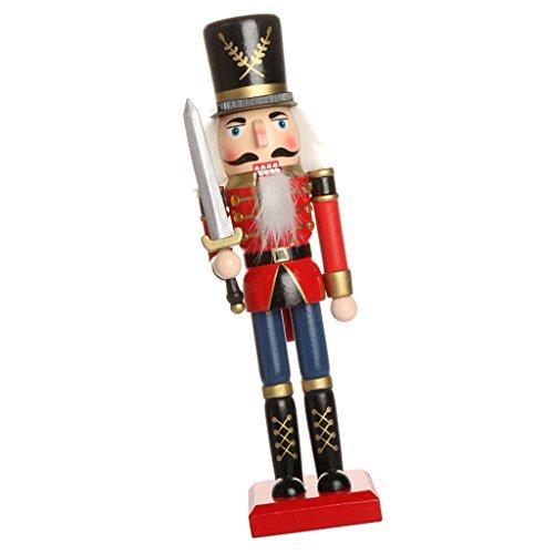 Handbemalter Holz Nussknacker Figur Weihnachtsverzierung Haus Deko - Nussknacker 8