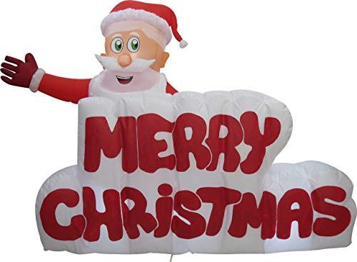 XXL LED WEIHNACHTSMANN + Merry Christmas Schriftzug~120 cm...