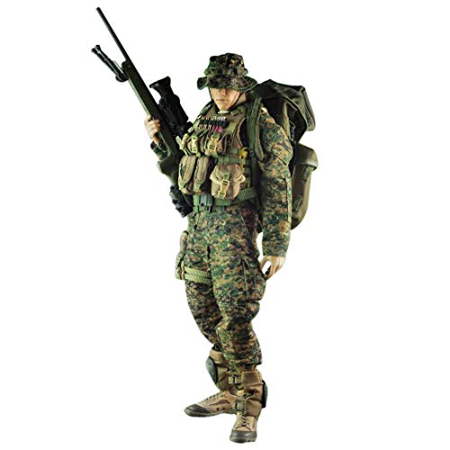 Batop Marine Scharfschütze Kostüm Figuren Zubehör für 1/6 Soldat Actionfigur Modell Spielzeug...