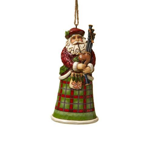 Jim Shore Heartwood Creek Schottischer Weihnachtsmann aus Kunstharz, hängende Ornamente, 12,1 cm