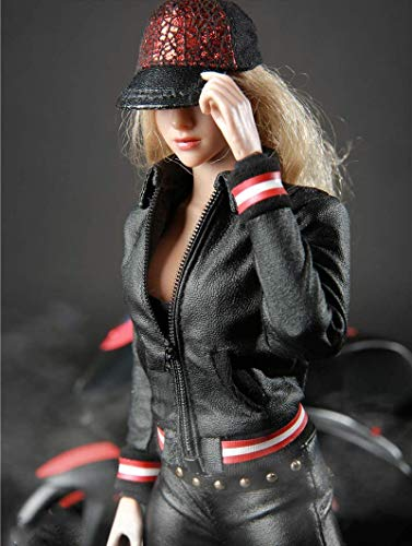 ZSMD 1/6 Scale Female Figure Doll Clothes, Handmade Locomotive Girl Suit, Leather Coat, Pant,...